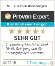 Erfahrungen & Bewertungen zu WEBER Dienstleistungen