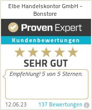 Erfahrungen & Bewertungen zu Elbe Handelskontor GmbH - Bonstore