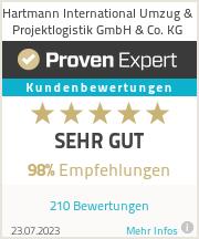 Erfahrungen & Bewertungen zu Hartmann International Umzug & Projektlogistik GmbH & Co. KG