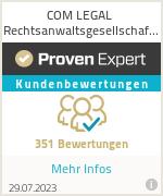 Erfahrungen & Bewertungen zu COM LEGAL Rechtsanwaltsgesellschaft mbH