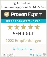 Erfahrungen & Bewertungen zu götz und coll. Finanzmanagement GmbH & Co. KG