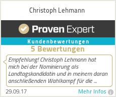 Erfahrungen & Bewertungen zu Christoph Lehmann