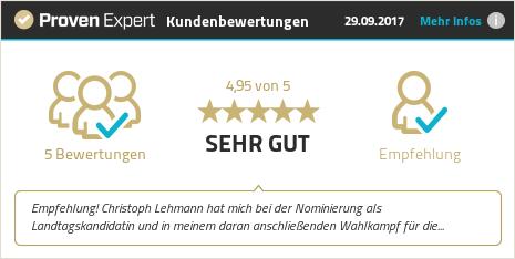 Erfahrungen & Bewertungen zu Christoph Lehmann anzeigen