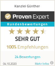 Erfahrungen & Bewertungen zu Kanzlei Günther