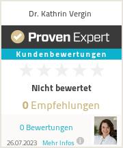 Erfahrungen & Bewertungen zu Dr. Kathrin Vergin