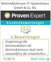 Erfahrungen & Bewertungen zu Wehrle&Johnson IT-Systemhaus GmbH & Co. KG