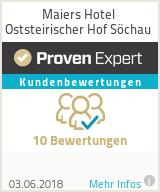 Erfahrungen & Bewertungen zu Maiers Hotel Oststeirischer Hof Söchau