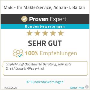 Erfahrungen & Bewertungen zu MSB - Ihr MaklerService, Adnan-J. Baltali