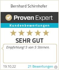 Erfahrungen & Bewertungen zu Bernhard Schirnhofer