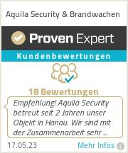 Erfahrungen & Bewertungen zu Aquila Security & Brandwachen