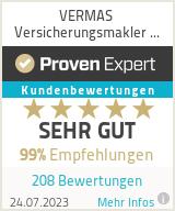 Erfahrungen & Bewertungen zu VERMAS Versicherungsmaklerservice GmbH