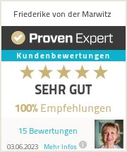 Erfahrungen & Bewertungen zu Friederike von der Marwitz