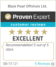 Ratings & reviews for Black Pearl Offshore Ltd.