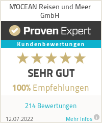 Erfahrungen & Bewertungen zu M'OCEAN Reisen und Meer GmbH