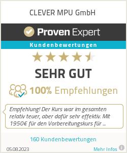 Erfahrungen & Bewertungen zu CLEVER MPU UG (haftungsbeschränkt)