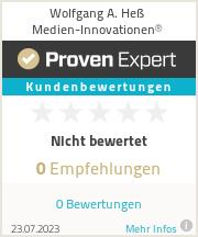 Erfahrungen & Bewertungen zu Wolfgang A. Heß Medien-Innovationen®