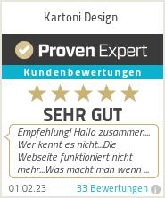 Erfahrungen & Bewertungen zu Kartoni Design