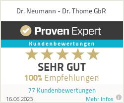 Erfahrungen & Bewertungen zu Dr. Neumann - Dr. Thome GbR