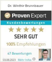 Erfahrungen & Bewertungen zu Dr. Winthir Brunnbauer