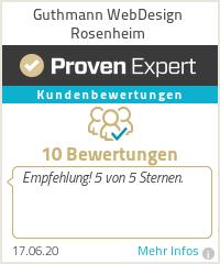 Erfahrungen & Bewertungen zu Guthmann WebDesign Rosenheim