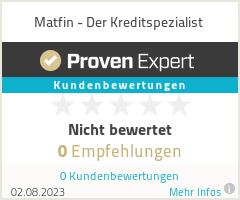 Erfahrungen & Bewertungen zu Matfin - Der Kreditspezialist