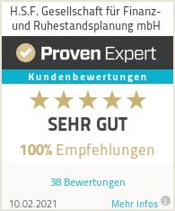 Erfahrungen & Bewertungen zu H.S.F. Gesellschaft für Finanz- und Ruhestandsplanung mbH