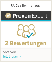 Erfahrungen & Bewertungen zu RA Eva Borlinghaus