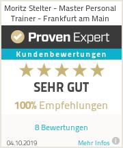 Erfahrungen & Bewertungen zu Moritz Stelter - Master Personal Trainer - Frankfurt am Main