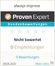 Erfahrungen & Bewertungen zu always improve