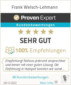 Erfahrungen & Bewertungen zu Frank Welsch-Lehmann