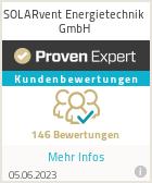 Erfahrungen & Bewertungen zu SOLARvent Energietechnik GmbH