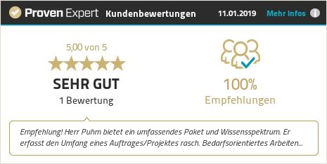 Erfahrungen & Bewertungen zu Jürgen Puhm anzeigen