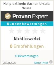 Erfahrungen & Bewertungen zu Heilpraktikerin Aachen Ursula Neuss