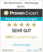 Erfahrungen & Bewertungen zu CM-Webmedia - Webdesign Berlin