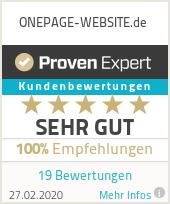 Erfahrungen & Bewertungen zu ONEPAGE-WEBSITE.de
