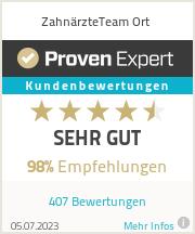 Erfahrungen & Bewertungen zu ZAHNÄRZTEteam ORT