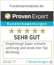 Erfahrungen & Bewertungen zu Fonderiaromableie.de