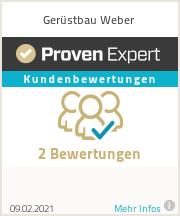 Erfahrungen & Bewertungen zu Gerüstbau Weber