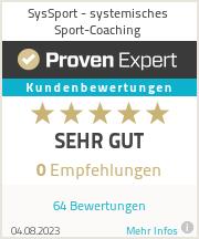 Erfahrungen & Bewertungen zu SysSport - systemisches Sport-Coaching