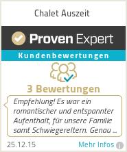 Erfahrungen & Bewertungen zu Chalet Auszeit