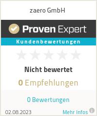 Erfahrungen & Bewertungen zu zaero GmbH