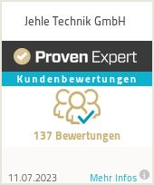 Erfahrungen & Bewertungen zu Jehle Technik GmbH