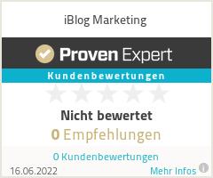 Erfahrungen & Bewertungen zu iBlog Marketing