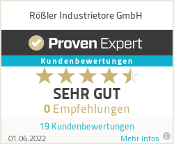 Erfahrungen & Bewertungen zu Rößler Industrietore GmbH