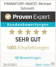 Erfahrungen & Bewertungen zu FRANKFURT-INVEST, Michael Schmidt
