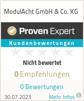 Erfahrungen & Bewertungen zu ModulAcht GmbH & Co. KG