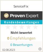 Erfahrungen & Bewertungen zu ServiceFix