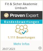 Erfahrungen & Bewertungen zu Fit & Sicher Akademie Umbach