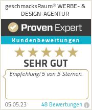 Erfahrungen & Bewertungen zu geschmacksRaum® WERBEAGENTUR & DRUCK