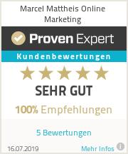 Erfahrungen & Bewertungen zu Marcel Mattheis Online Marketing